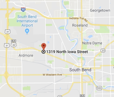 Wolf Commercial Roofing Map South Bend IN